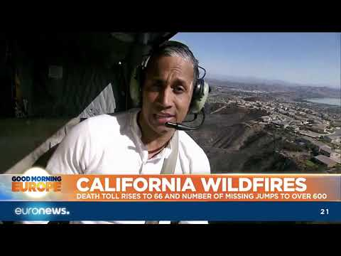 euronews (in English): California Wildfires: death toll goes up to 66, missing jumps to over 600 | #GME