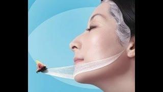 Шелковая маска для лица против морщин. Натуральный продукт HuaShen