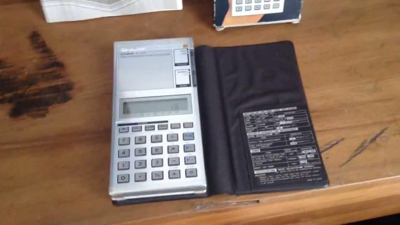 Matrixsynth: sharp compet cs6500 vintage japanese talking calculator.