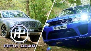 Bentley Bentayga VS Range Rover Sport SVR  - the off-road test | Fifth Gear