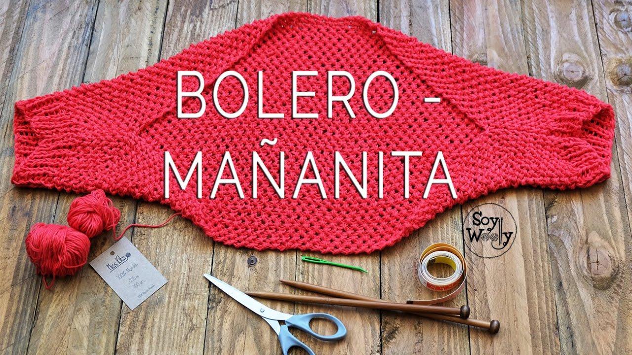 Cómo tejer un BOLERO/MAÑANITA/TORERA en dos agujas (moderno y fácil ...