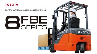 Toyota 8FBE 3-Wheel Battery Electric Counterbalance Forklifts