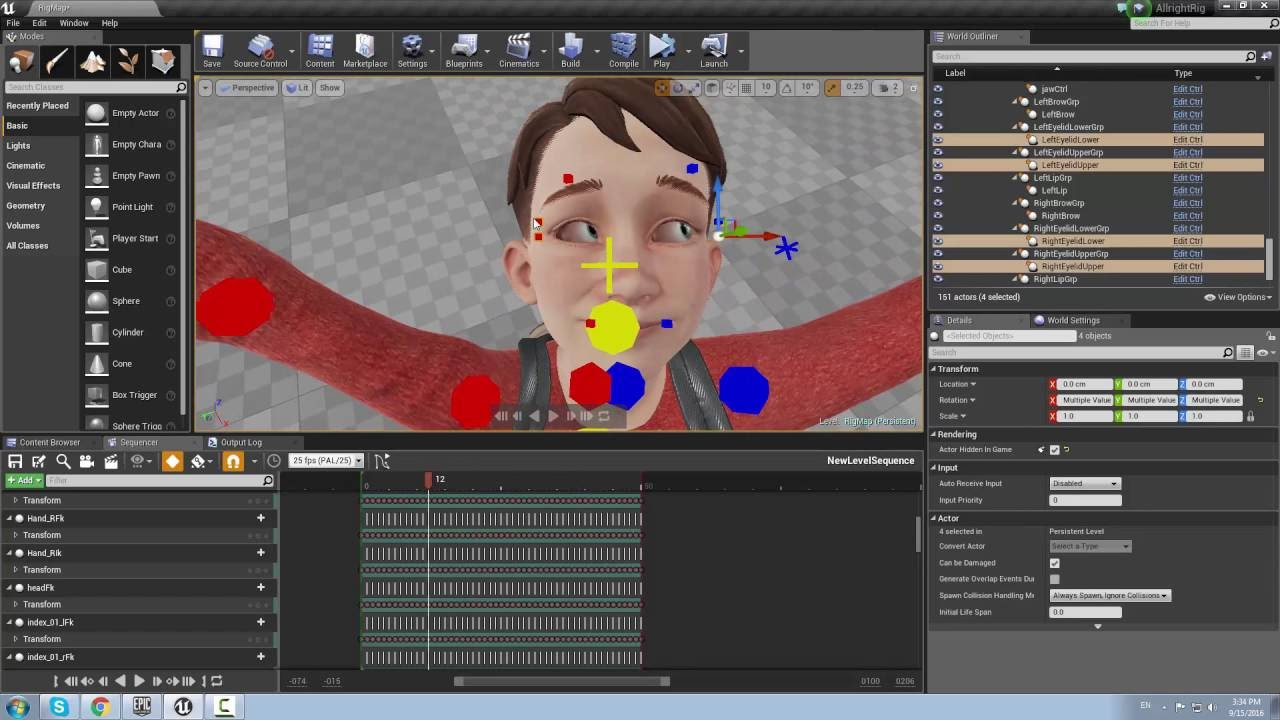 Allright Rig: Creating Animation in UE4