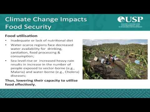 Session 3 Lecture 1 - Impact of Climate Change and Food Security by Dr Morgan Wairiu