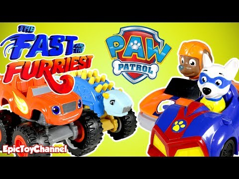 Thumbnail: THE FAST & THE FURRIEST Paw Patrol & Blaze and the Monster Machines Race + Disney Cars 3 Movie Toy