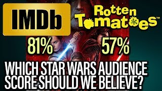Star Wars The Last Jedi - Which Audience Score Should We Believe?