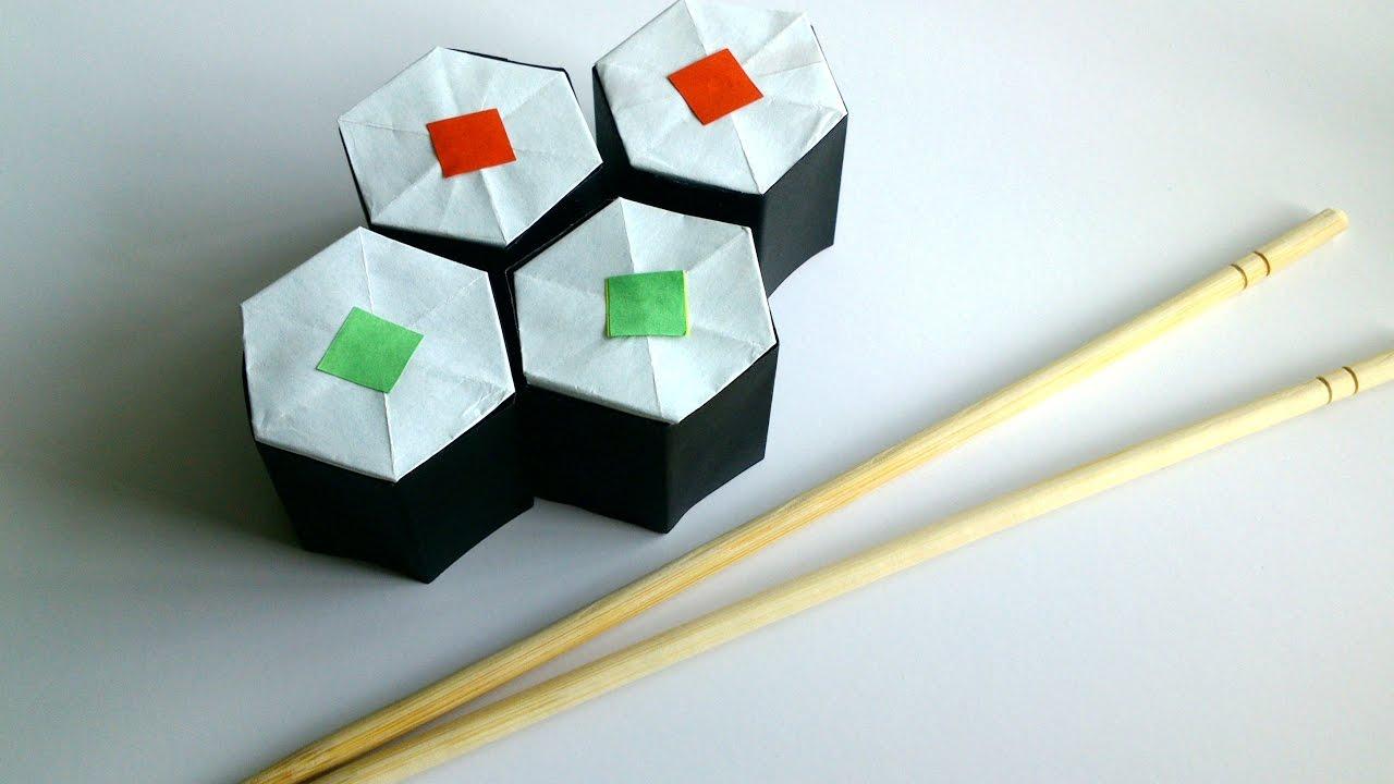 diy origami sushi rolls paper sushi rolls youtube