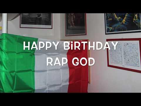 Happy Birthday Eminem - Rap God - Slim Shady
