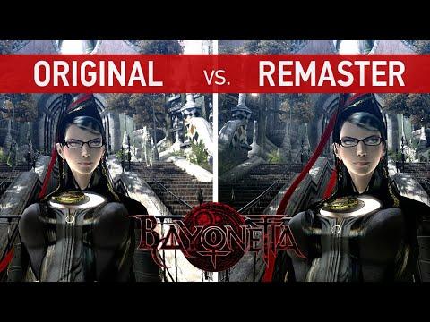 Bayonetta Comparison - Original (Xbox 360) vs. Remaster (Xbox One X)