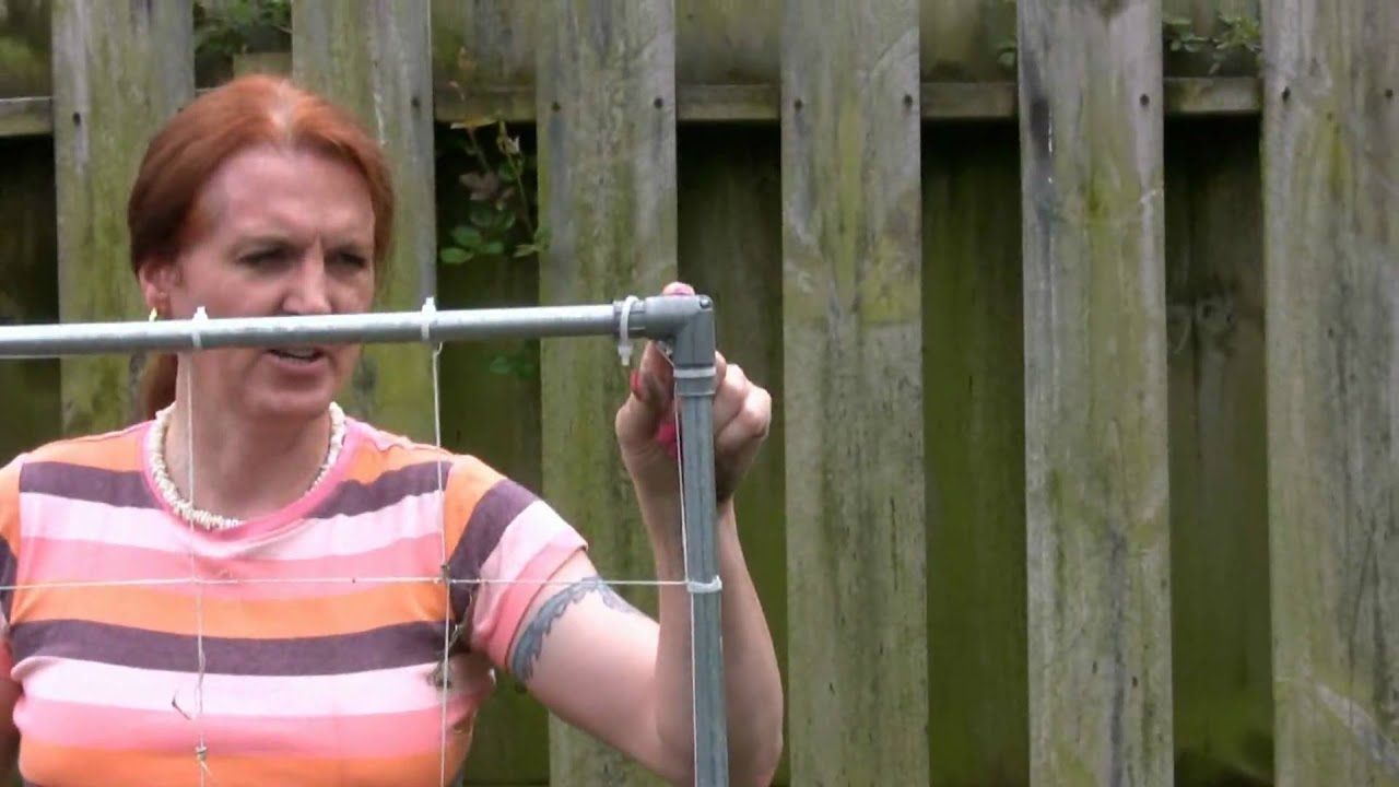 Adding a garden trellis to my square foot garden youtube for How to add square feet