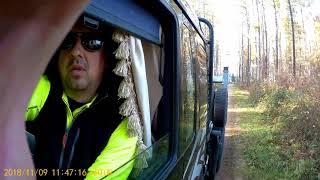 Załadunek i rozładunek drewna. Transport Leśny