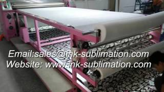 Roll sublimation heat transfer machine with sublimation transfer paper