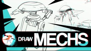 How to draw MECHS tutorial