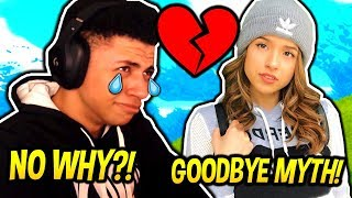MYTH GETS REJECTED PAR POKIMANE FOR ANOTHER MAN! (ÉMOTIONNEL) Fortnite FUNNY - Moments SAVAGE