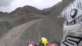 Dirt bike jumps, whips, hill climbing.