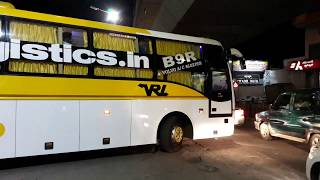 Volvo Multiaxle sleeper coach brand new spotted  at VRL bus stop Bengaluru