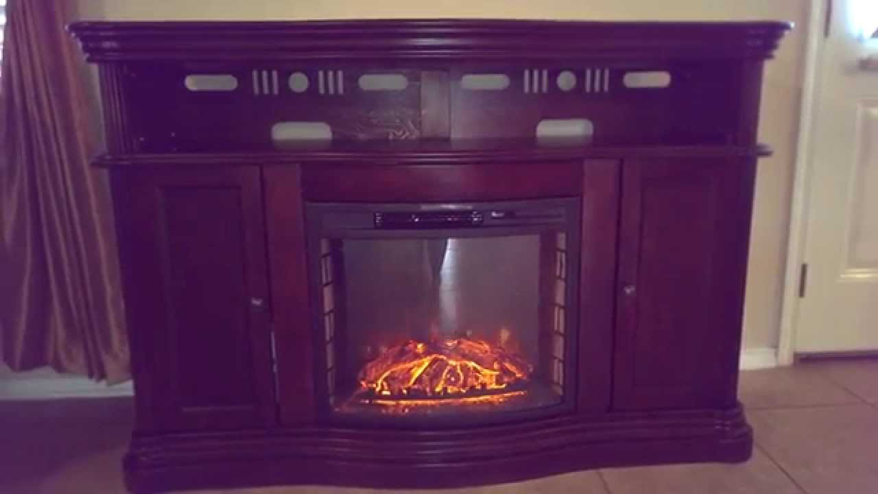 montero 56 in media console infrared electric fireplace in