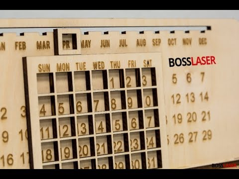DIY Laser Engraved Wood Perpetual Calendar - Download Free Cut File