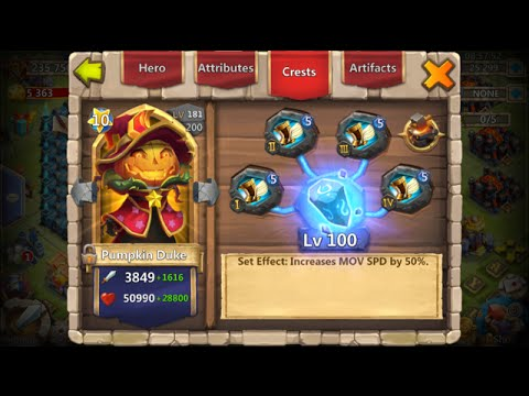 Castle Clash Double Evolving Pumpkin Duke 12 Lucky Flips Rank 1 Arena