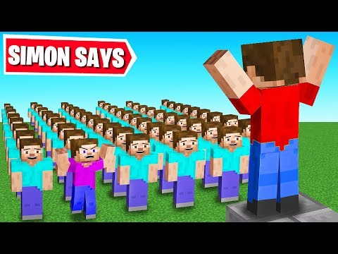 Playing SIMON SAYS in MINECRAFT!