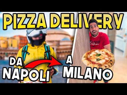 LA PRIMA PIZZA CONSEGNATA DA NAPOLI A MILANO IN DELIVERY