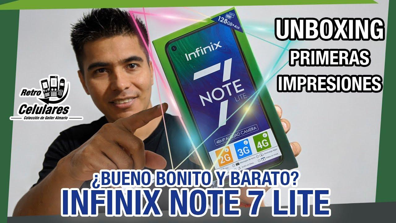 INFINIX NOTE 7 lite ¿Celular con las tres B? Unboxing y primeras impresiones /Retro Celulares & Más