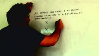 Problema de ecuacion con porcentaje Matematicas 2º ESO Academia Usero Estepona