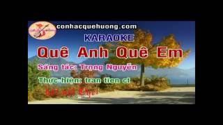 Karaoke TC Quê anh quê em (hát với Chelamson)