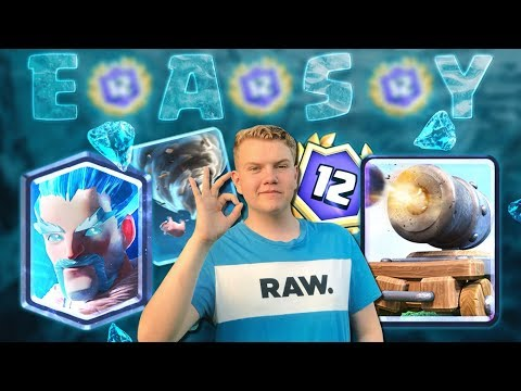 EASY 12-0! Ice Wizard Graveyard Control Deck LIVE Grand Challenge Gameplay - Clash Royale