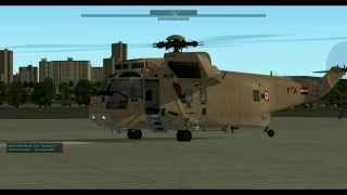 X-Plane10 Sikorsky SH-3 Sea King TEST FLIGHT 02