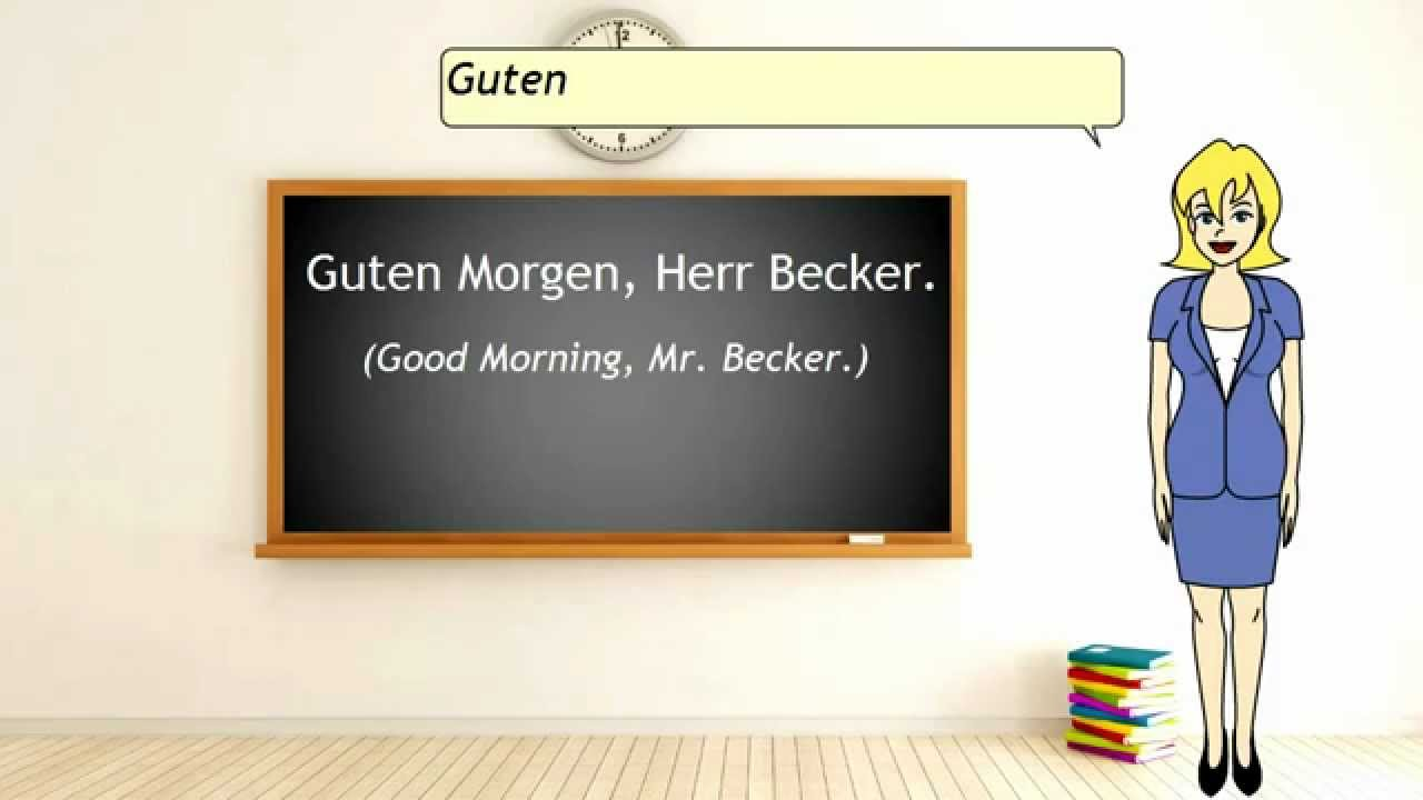 German Lesson Basic Greetings Part 1 Youtube