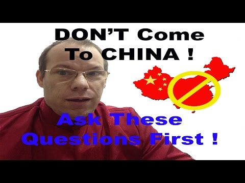 DON'T Come to China without asking THESE 27 Questions