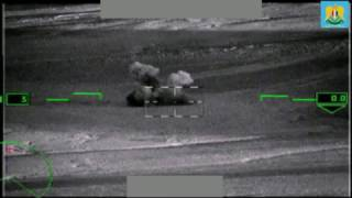 "Russian Ka-52 ""Alligator""  firing on positions and Tanks of IS militants."