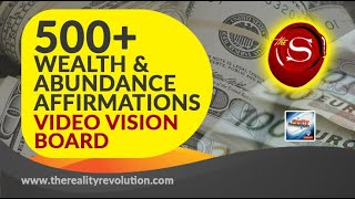 500 + Wealth and Abundance Affirmations Video Vision Board with Binaural Trance Induction Delta Wave