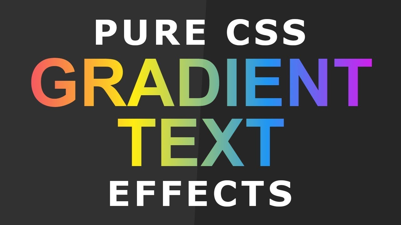 Pure Css Gradient Text Effects - CSS Text Effects - Html5 Css3 Tips ...