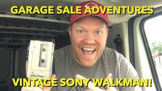 Garage Sale Adventures-Vintage Sony Walkman!