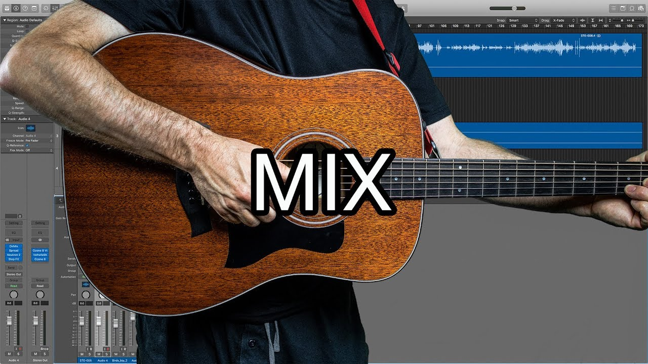 Logic Pro Mix Tutorial Ambient Acoustic Guitar Youtube