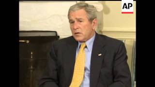 President Bush says that the U.N. peacekeeping mission is moving too slowly in Sudan