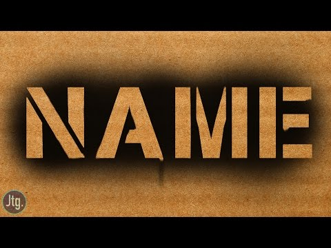 How To Spray Paint Your Name In Photoshop!