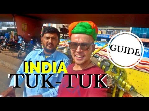 DRIVING A TUK-TUK ON THE HIGHWAY - India Travel