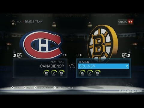 NHL 15 - Gameplay Montreal Canadiens vs Boston Bruins - Xbox One - Full Game [ HD ]