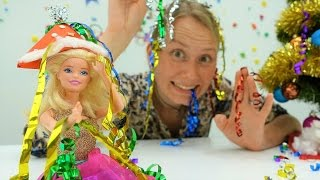 Новогодняя шапочка для Барби своими руками