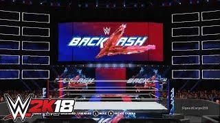 WWE 2K18 - Backlash 2018 (Co-Branded)   Custom Arena Creations