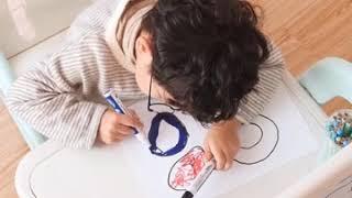 어린이 양면이젤 칠판 화이트보드 책상 미술놀이 그림