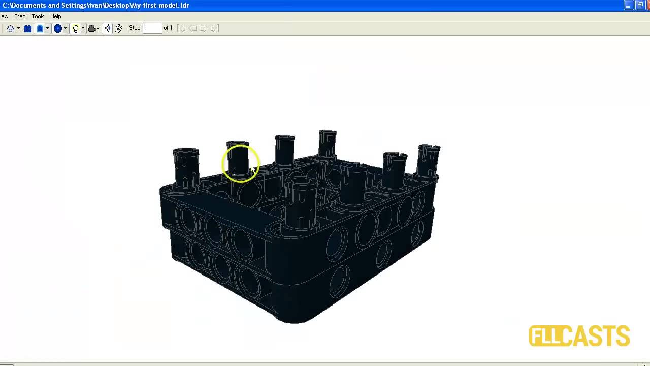 How to build a 3D LEGO Model using LDraw (part 1)