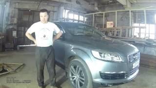 видеоотчёт Замена тормозных дисков и колодок (EBC Brakes) на Audi Q7