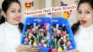 Favourite Nail Polish Brands |Lakme Maybelline A.D.S. ELLE18 |Affordable Nail Paint |Rs150 |Ps Perky