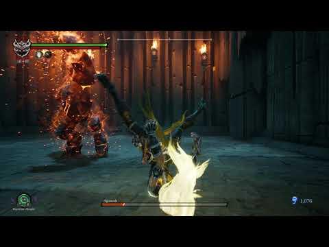 Darksiders 3 - Aganosh Bossfight (NO DAMAGE) (RECKONING) (ARMAGEDDON +3)  