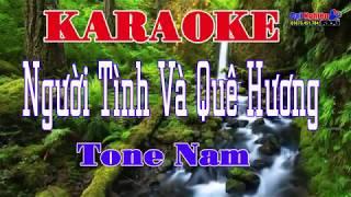 Người Tình Và Quê Hương Tone Nam karaoke nhạc sống Beat Chất Lượng