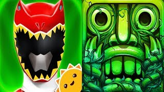 Power Rangers Dino Charge Rumble VS Temple Run 2 Android iPad iOS Gameplay HD